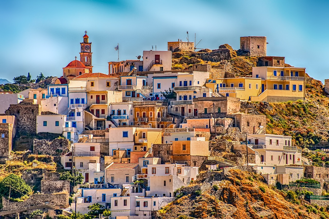 greece, village, karpathos