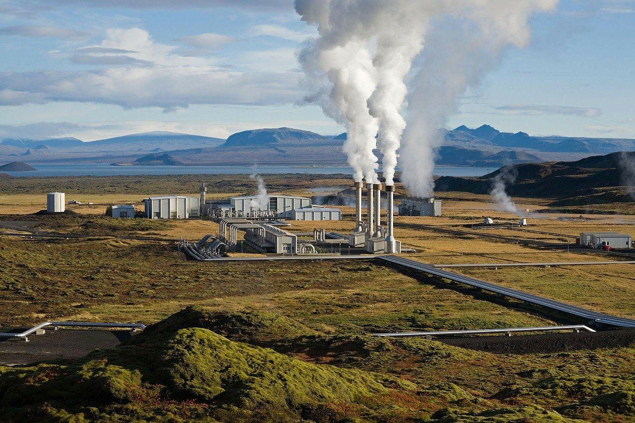 power plant, geothermal, geothermal energy